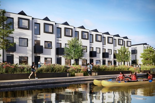 A further 133 factory-built modular homes will be built on six acres of derelict land at Port Loop in Edgbaston