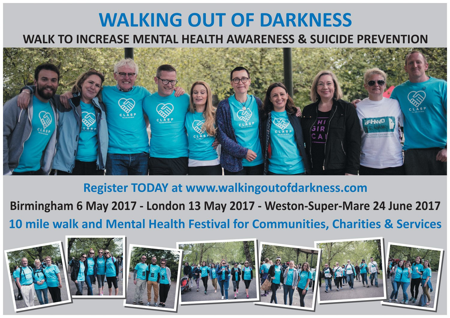 Boost mental health awareness and suicide prevention with 'Walking Out of Darkness'