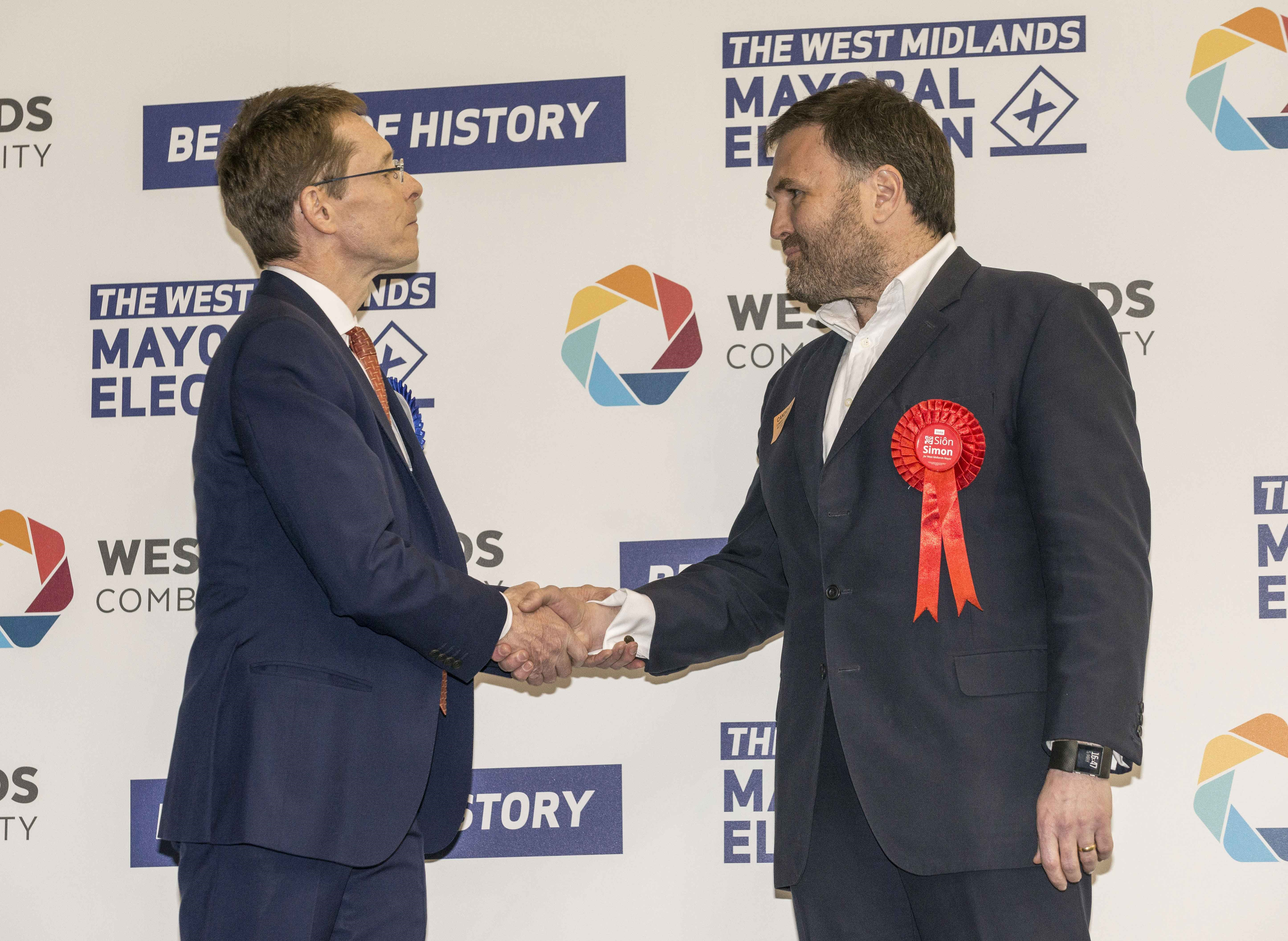 Historic vote sees Andy Street elected first West Midlands Mayor