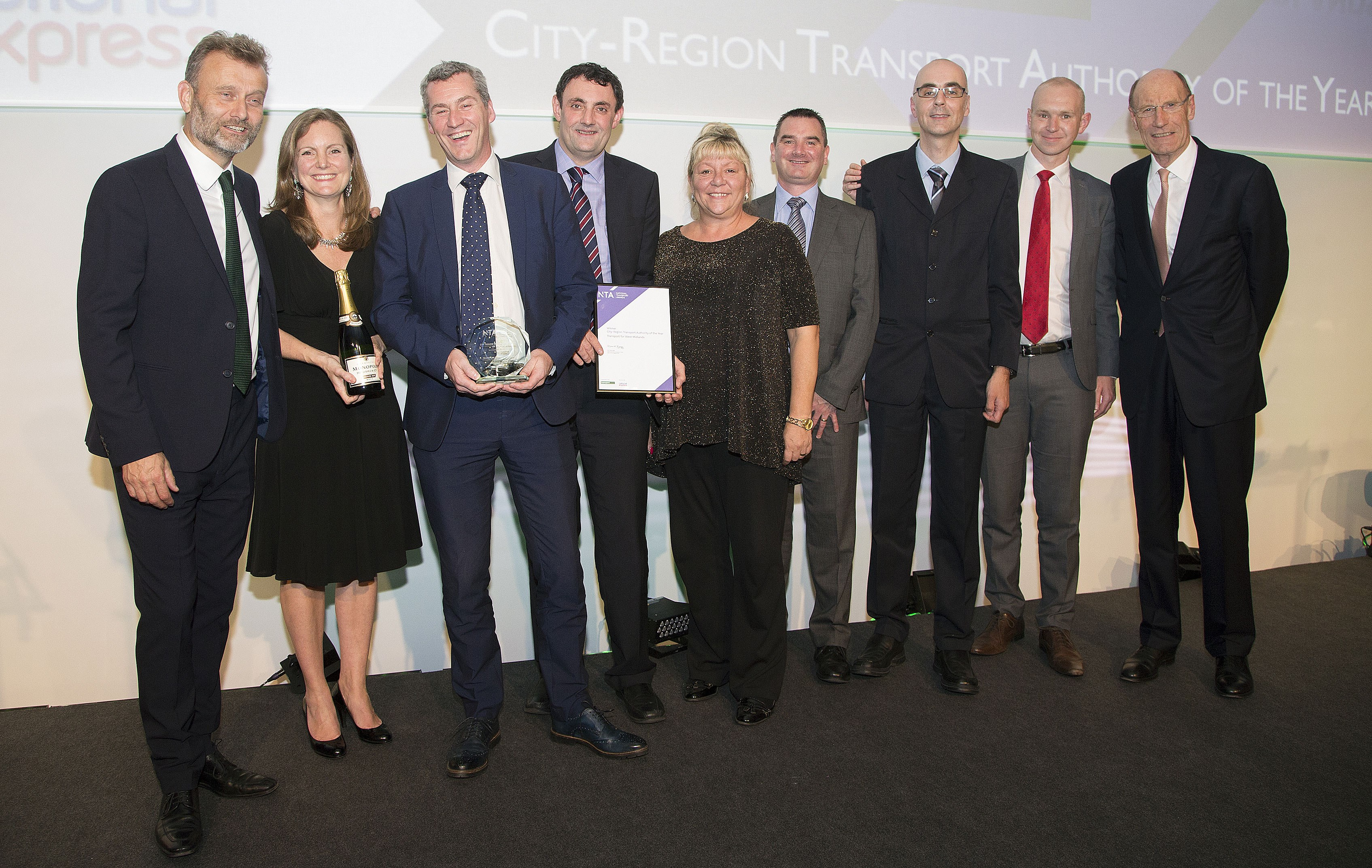 TfWM wins top award at transport Oscars