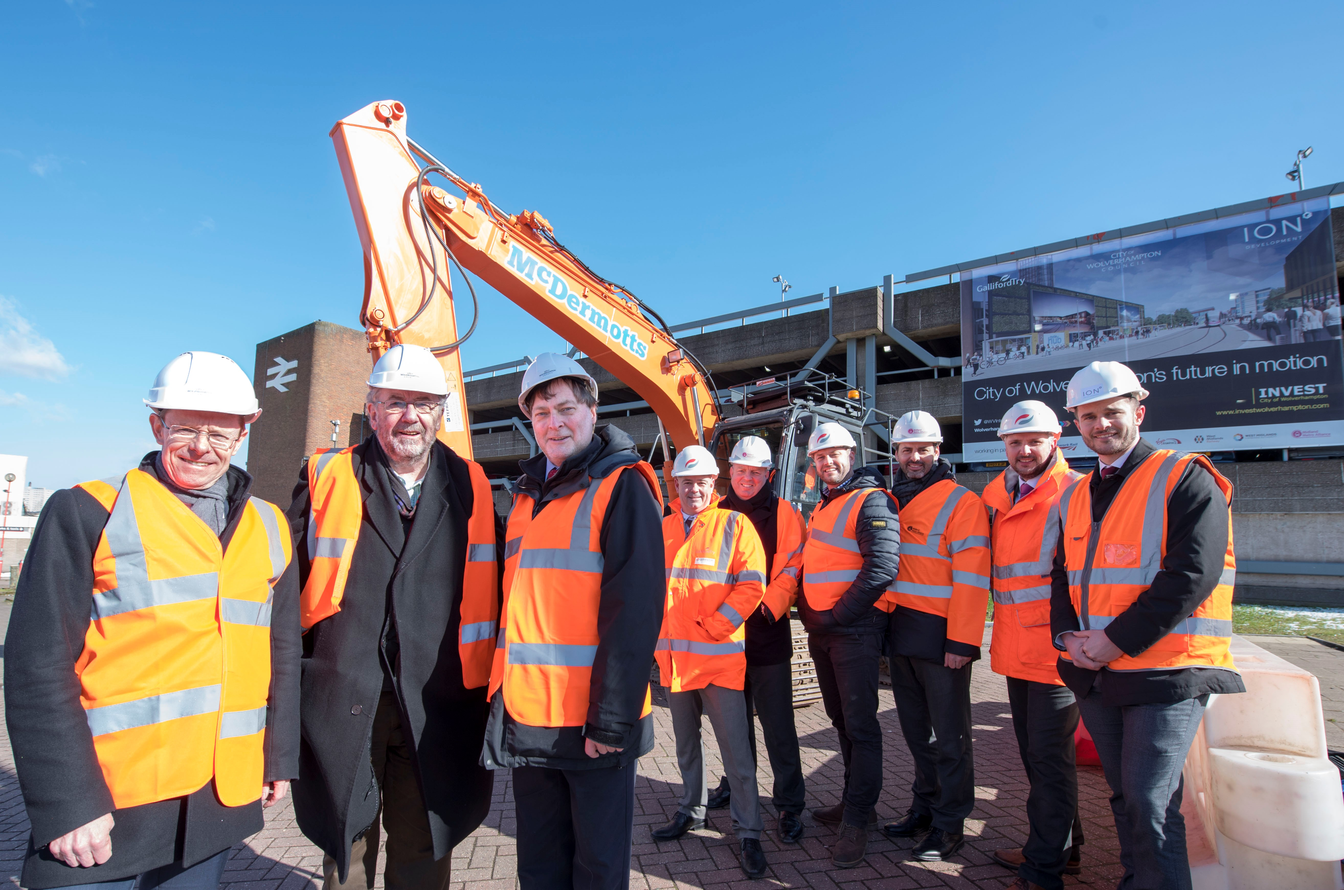 Interchange partners celebrate as station works gear up