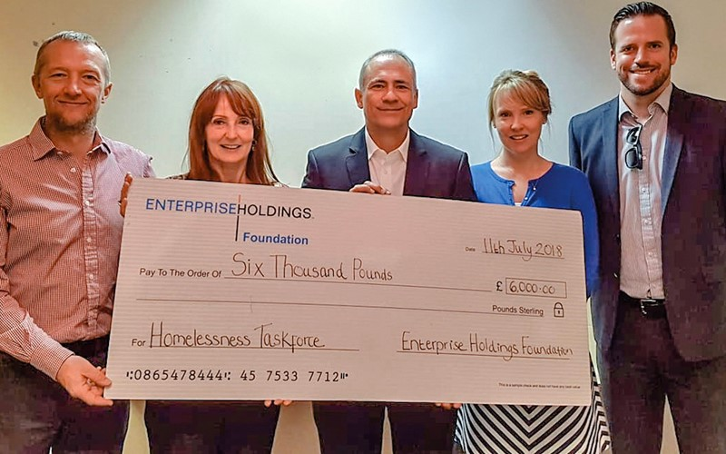Enterprise Rent-A-Car donates £6,000 to West Midlands Homelessness Task Force