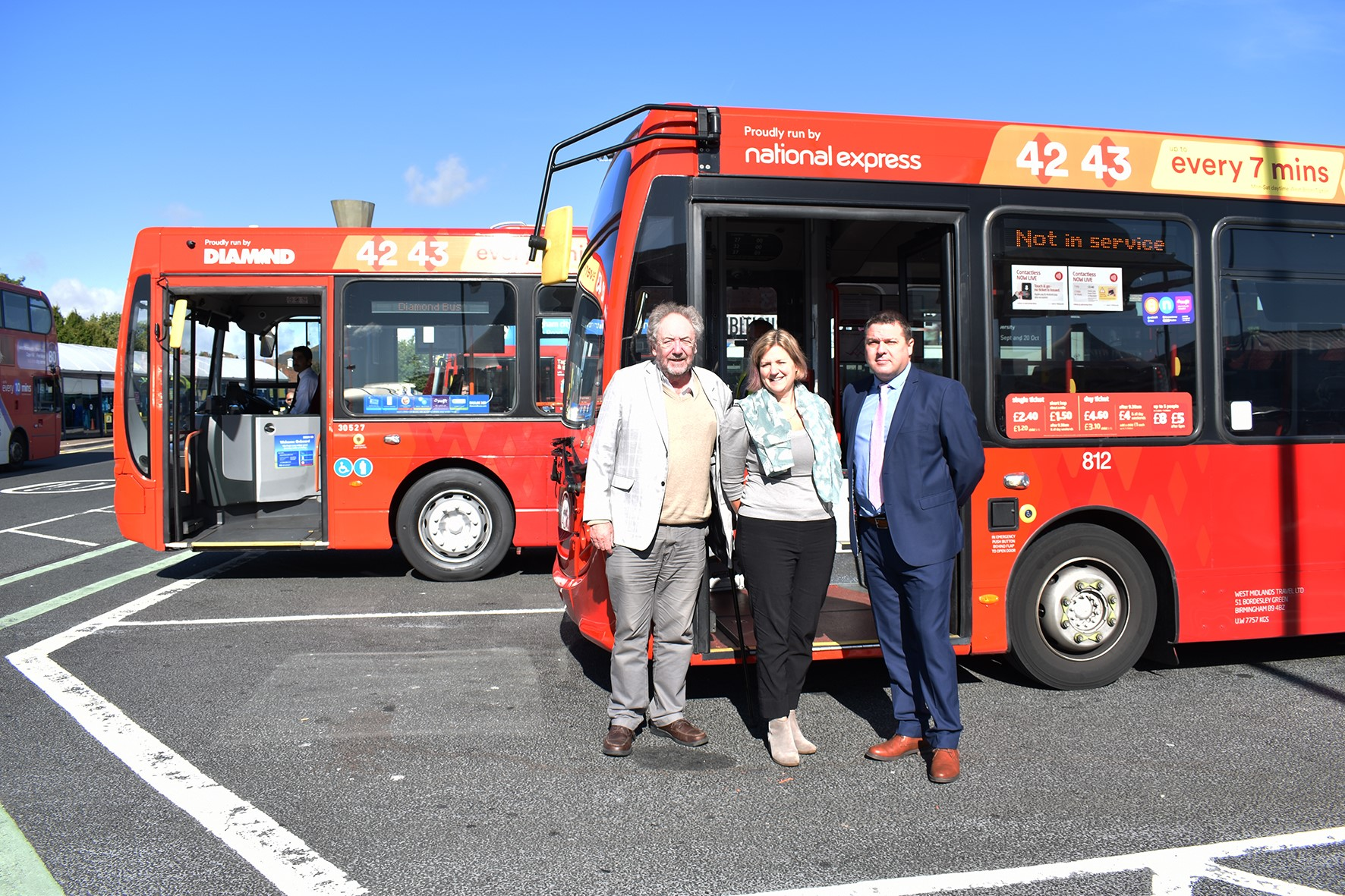 First new West Midlands Transport branded buses in operation