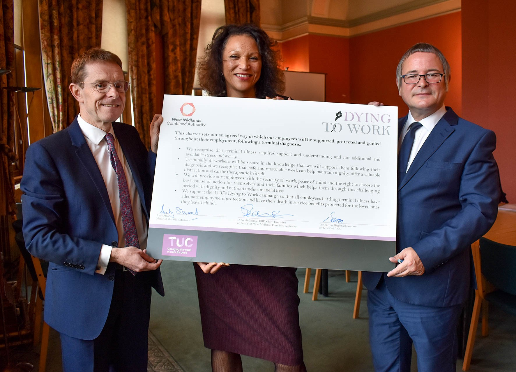 WMCA signs the TUC's Dying To Work Charter