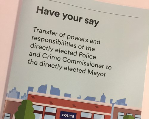 First consultation stage on transfer of Police and Crime Commissioner powers to Mayor's office closes next week