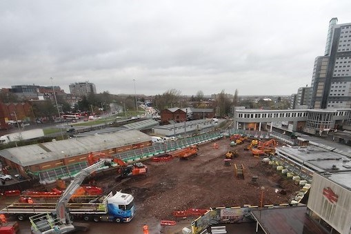 Building starts on new Wolverhampton railway station