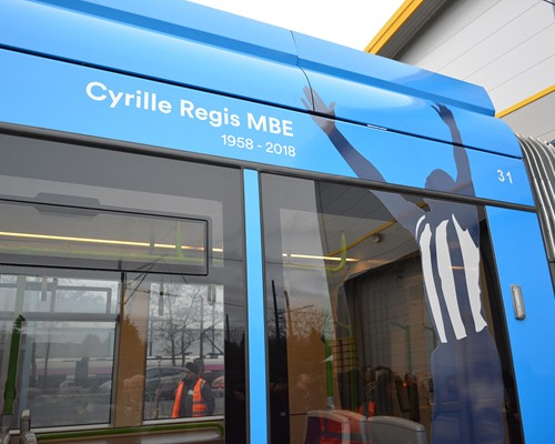 Tram named after West Bromwich Albion legend Cyrille Regis