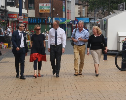 Task Force makes fact-finding tour to see the challenges and opportunities facing town centres