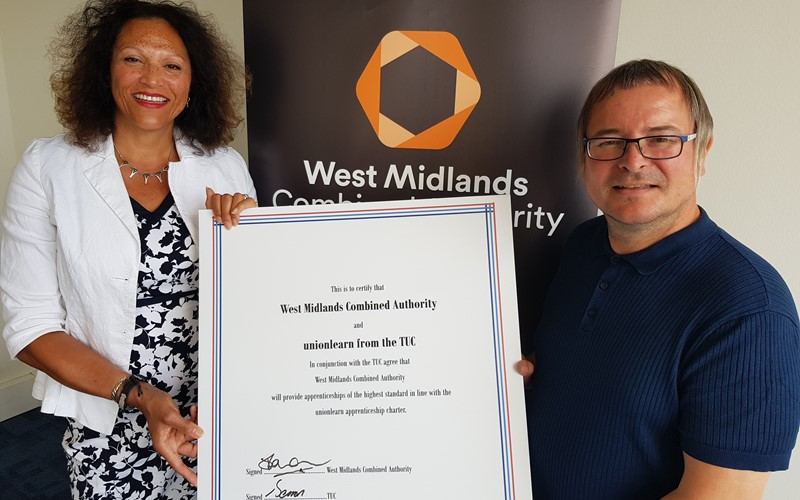 WMCA signs up to TUC Apprenticeship Charter