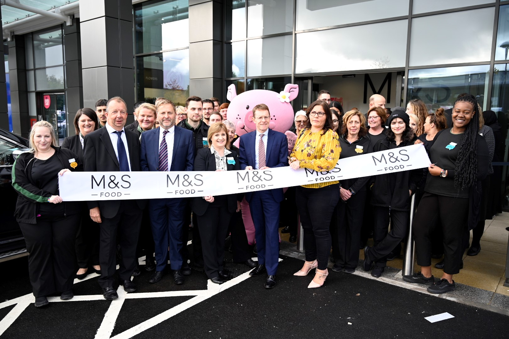 Mayor goes back to his retail roots as new Marks & Spencer opens