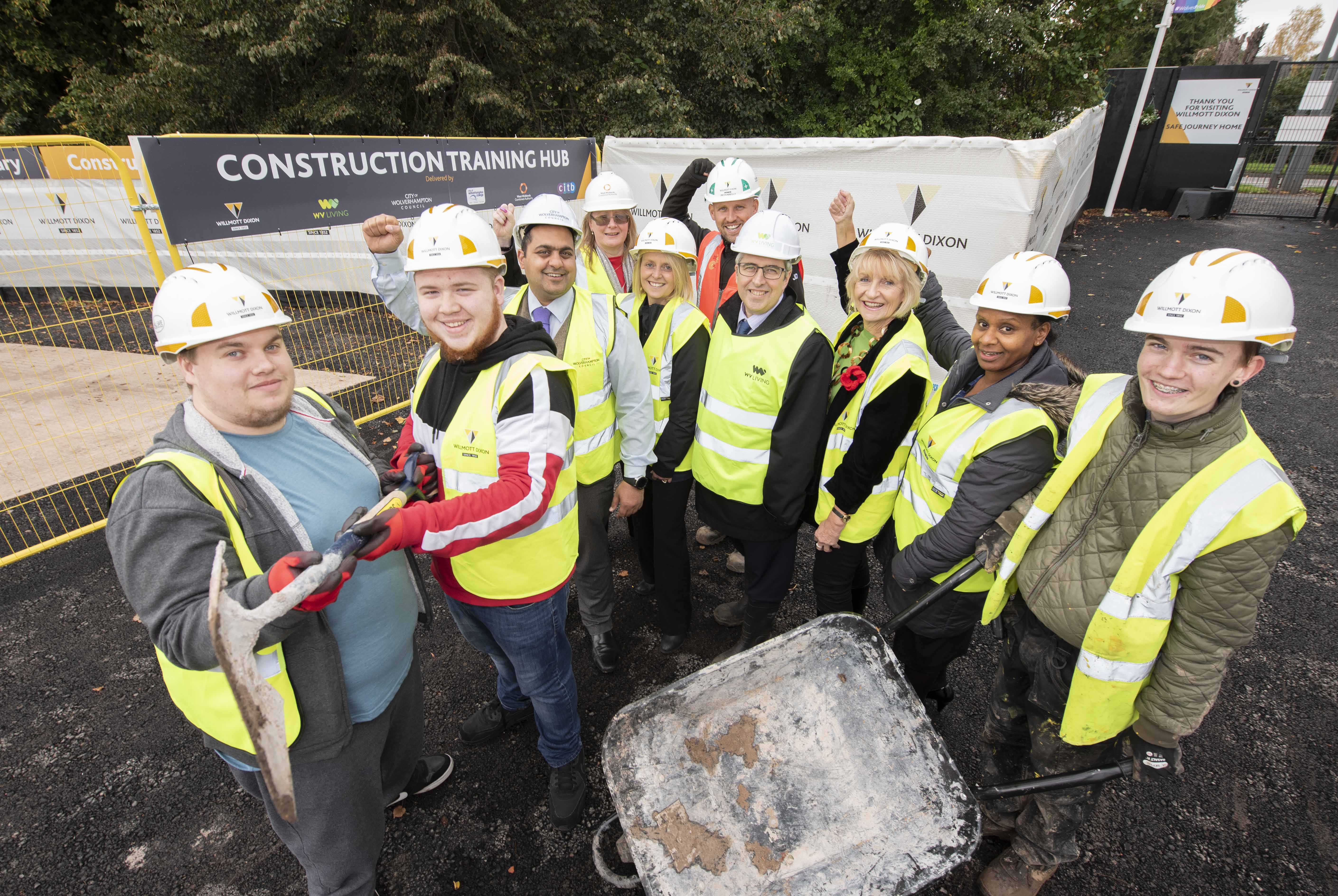 New construction training hub helping unemployed people in Wolverhampton