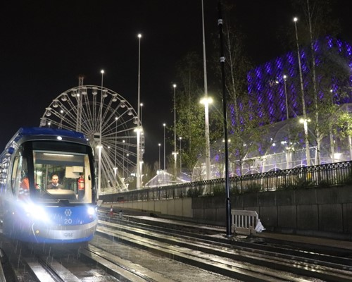 First trams reach Centenary Square in Birmingham Westside Metro extension tests