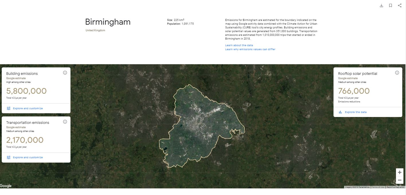 West Midlands Combined Authority teams up with Google in fight against climate change