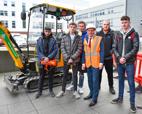 Young people find out how to build a new career in construction at WMCA event