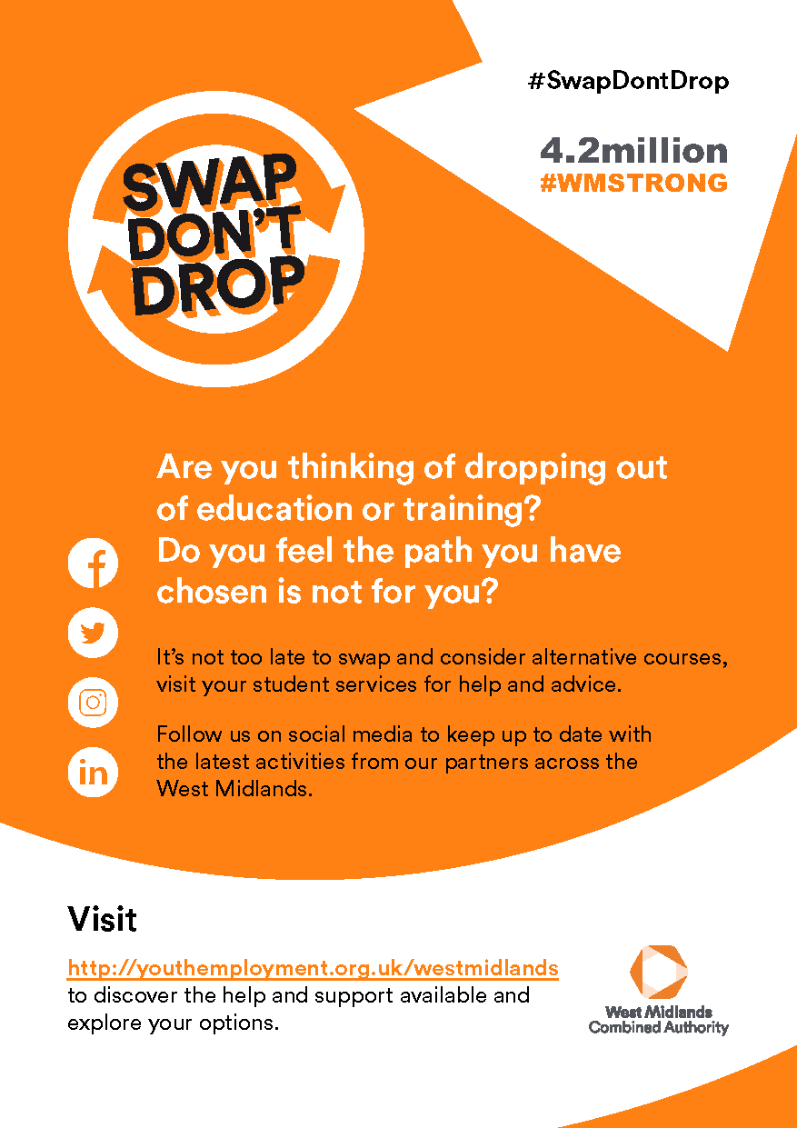 Swap Don't Drop event flyer