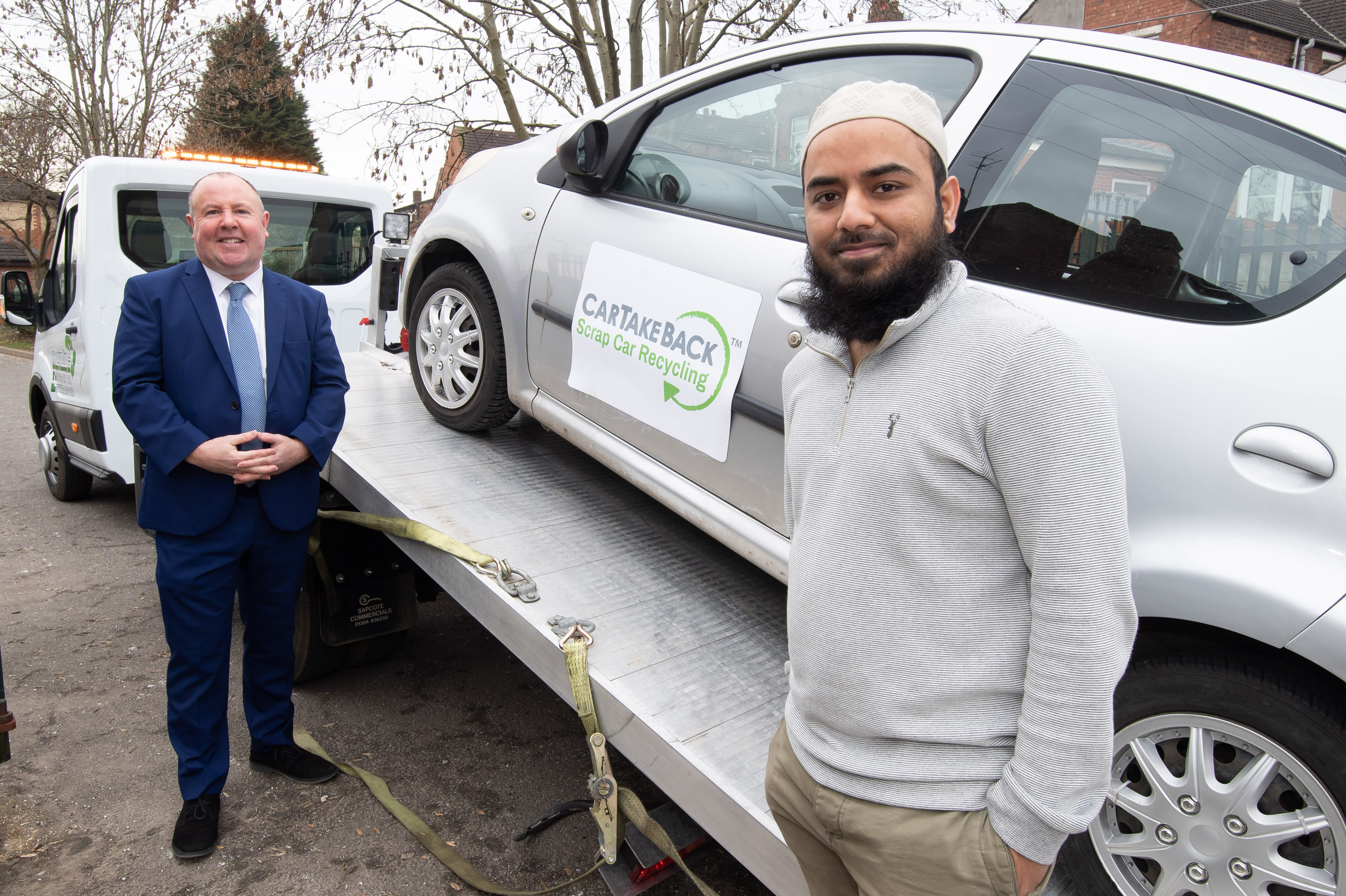 Motorists have their old polluting cars crushed in exchange for £3,000 worth of alternative transport