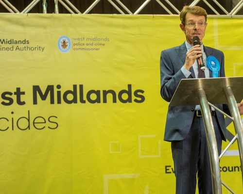 Andy Street re-elected as Mayor of the West Midlands